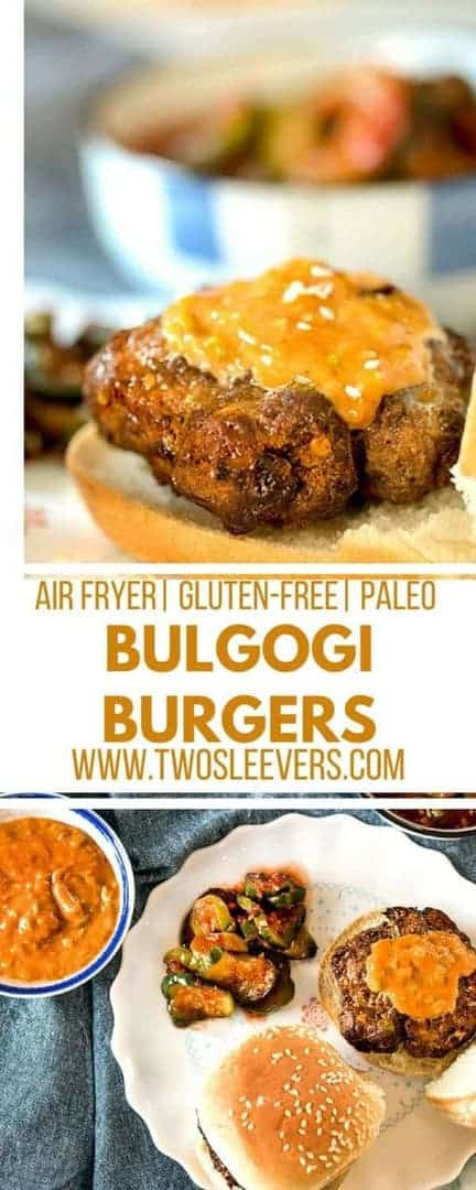 Bulgogi Burgers | Beef Bulgogi | Korean Burgers | American Korean Recipe | Air Fryer Burgers | Korean Burger Recipe | Two Sleevers #koreanamerican #koreanburger #bulgogiburger