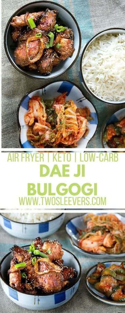 Air Fryer Korean Grilled Pork Dae Ji Bulgogi | Korean Pork | Bulgogi Recipe | Air Fryer Recipe | Korean Air Fryer Recipe | Air Fryer Pork Recipe | Two Sleevers #airfryerrecipe #bulgogirecipe #koreanrecipe