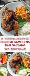 Air Fryer Cornish Game Hens