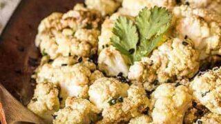 Keto Air Fried Cauliflower with Tahini