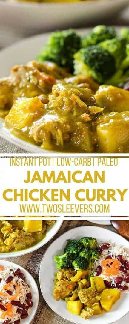 Jamaican Chicken Curry | Instant Pot Curry | Instant Pot Jamaican Recipe | Jamaican Paleo Recipe | Instant Pot Paleo Recipe | Two Sleevers #jamaicancurrychicken #jamaicanpaleo #instantpotjamaican