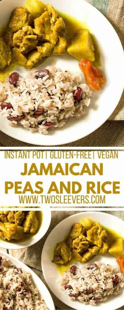 Make authenticJamaican Peas and Rice at home in a flash with your Instant Pot! This recipe follows a nontraditional way to get you traditional taste, Jamaican Peas and rice| Instant Pot Peas and Rice | Vegan| Kidney beans and Rice| Pressure cooker peas and rice|