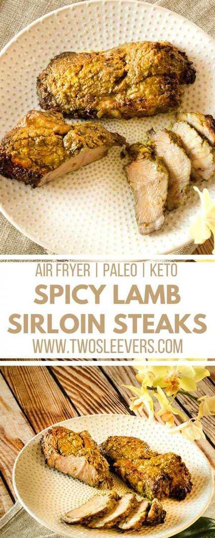 Spicy Lamb Sirloin Steak   Lamb Steak Recipe   Keto Lamb   Keto Air Fryer   Low Carb Air Fryer   Low Carb Lamb   Two Sleevers #lowcarblamb #airfryerrecipe #airfryer
