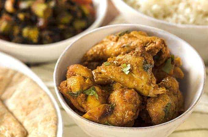 Air Fryer Chicken Spicy Fennel Chicen in a white bowl overhead view