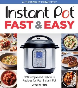 Cookbook Cover titled Instant Pot Fast & Easy with sample dishes.