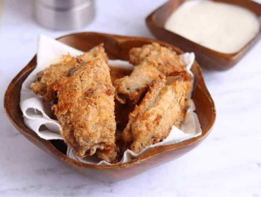 Air Fried Breaded Chicken Wings