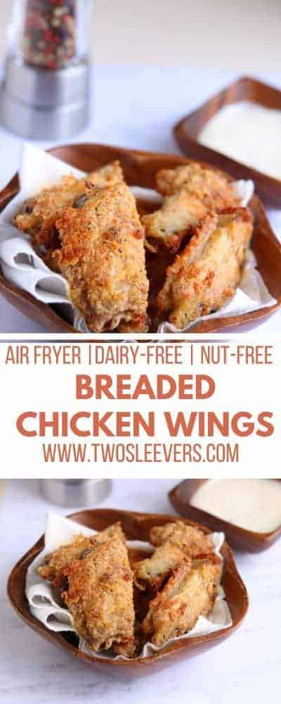 Breaded Chicken Wings   Air Fried Breaded Chicken Wings   Chicken Wings Recipe   Party Food Recipes   Appetizers   Fried Chicken Recipes   Breaded Chicken Recipes   Chicken Recipes   Best Chicken Wings Recipe   Two Sleevers   #twosleevers #airfryer #chickenwings #partyfood #appetizer