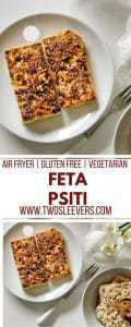 Air Fried Feta Psiti