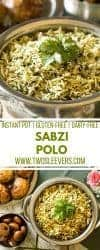 Instant Pot Sabzi Polo