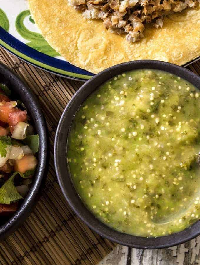 Air Fried Tomatillo Salsa
