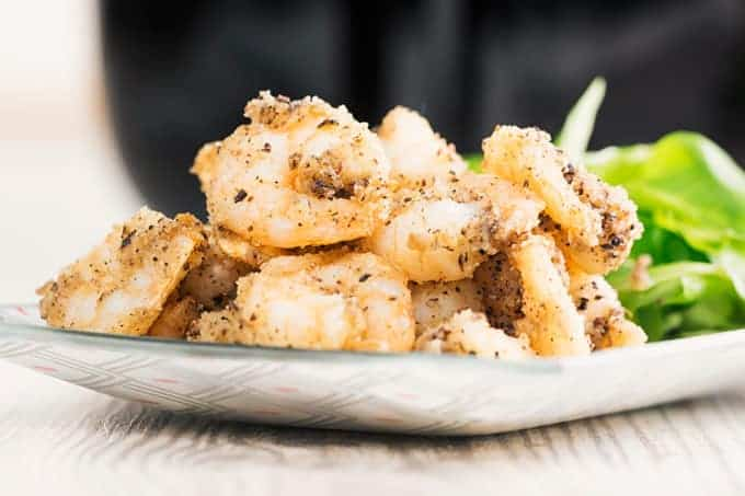 finished salt and pepper breaded shrimp