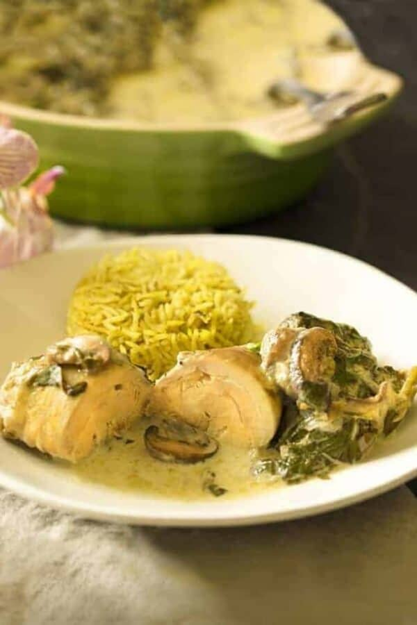 Chicken and Mushrooms Recipe Featured Image