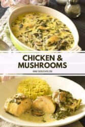 Chicken and Mushrooms Recipe Pinterest 2