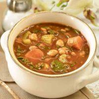 Instant Pot Moroccan Chickpea Soup | Vegan