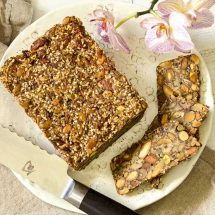 Low Carb Nut and Seed bread overhead