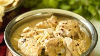 Slow Cooker Safed Chicken Korma | White Chicken Korma