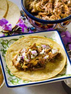 Indian Pulled Pork Tacos | Pressure Cooker Recipe