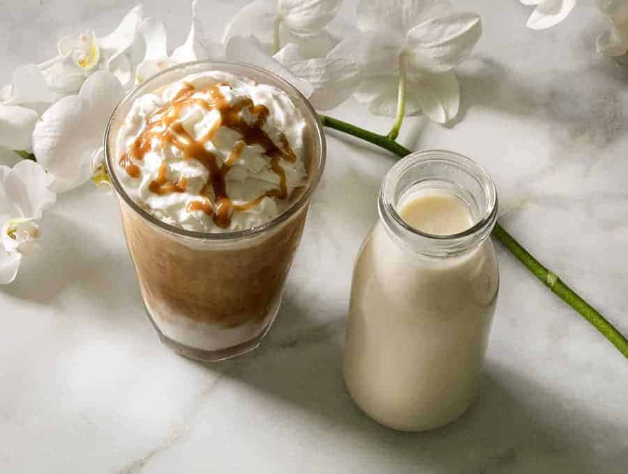 Keto Caramel Macchiato overehead 680x900 How Many Calories In A Cup Of Coffee With Creamer