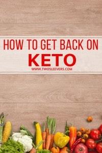 get back on keto