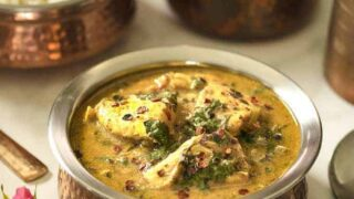 Instant Pot Fish Saag | Fish Curry
