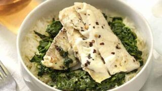 Haddock with Spinach and Rice