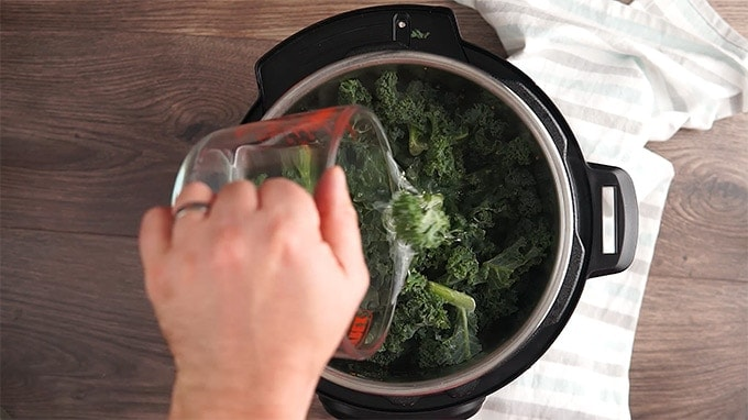 Instant Pot Italian Sausage and Kale Soup Frozen Kale and Cauliflower