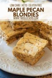 Keto Maple Pecan Blondies