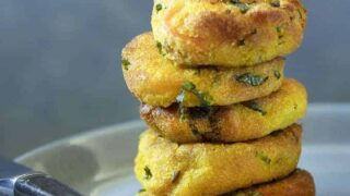 Savory Potato Patties | Air Fried Vegan Appetizer / Side Dish