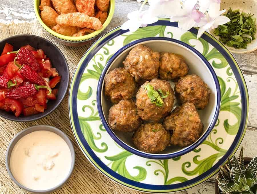 Keto Air Fryer Chicken Meatballs Twosleevers