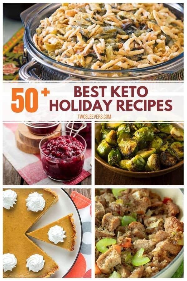 Image of five keto holiday recipes