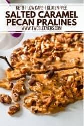 Salted Caramel Pecan Pralines
