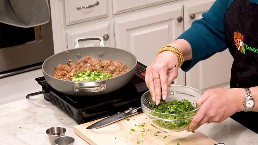 Mix Cilantro and green onions