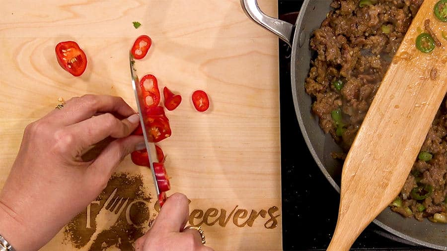 Add sweet red pepper