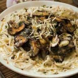 Mascarpone Mushroom Pasta