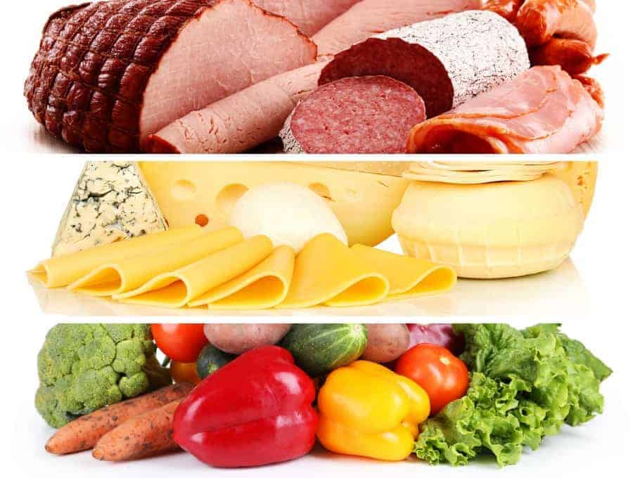 Meat, Cheese and Veggies