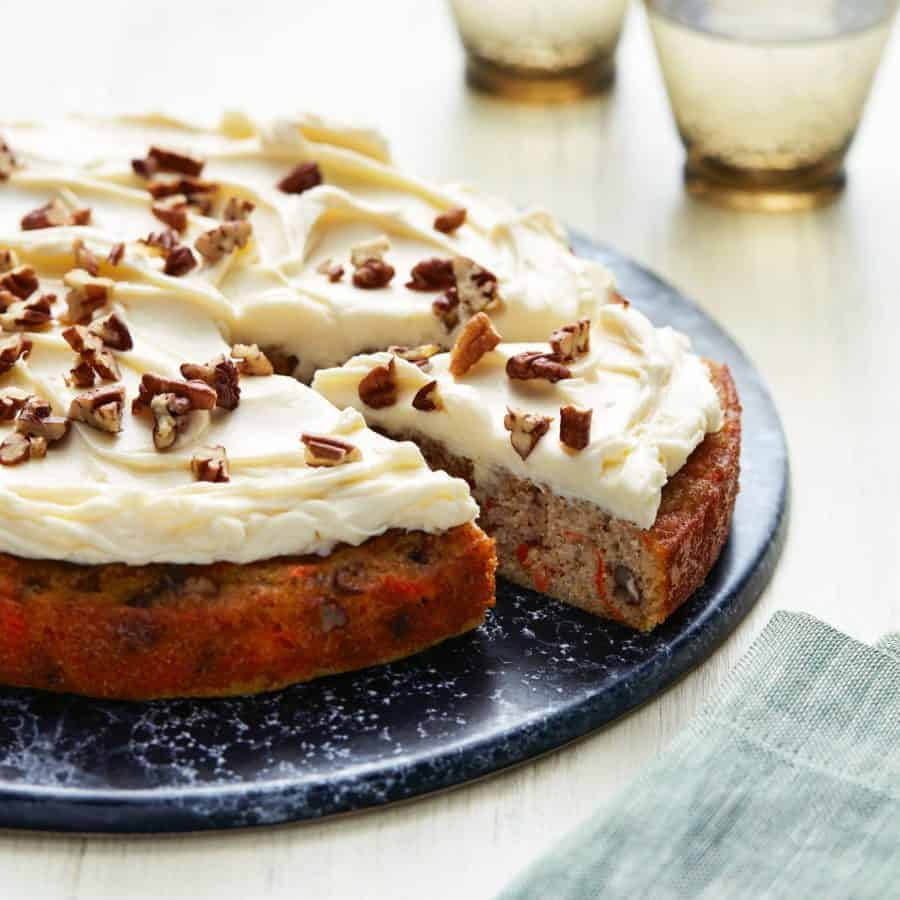 A close up of Keto Carrot Cake.