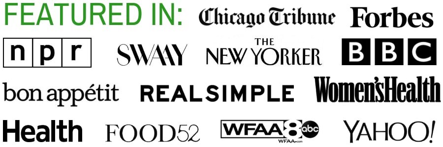 A close up of Press Featured by Headers.