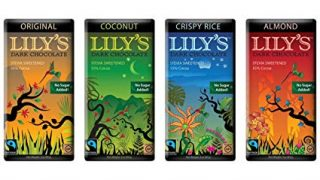 55% Dark Chocolate Bar Variety Sampler by Lily's Sweets | Stevia Sweetened, No Added Sugar, Low-Carb, Keto Friendly | 55% Cacao | Fair Trade, Gluten-Free & Non-GMO | 3 ounce, 4-Pack