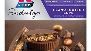Atkins Peanut Butter Cups. Rich and Creamy Treats with Chocolate and Peanut Butter. (10 Cups per Box)