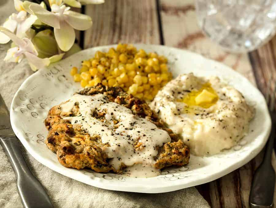 Crispy Air Fryer Chicken Fried Steak Video Twosleevers