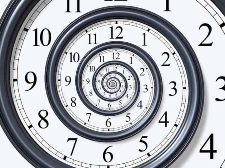 spiral clock face