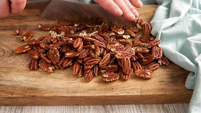 Chopped Pecans for Maple Pecan Bars