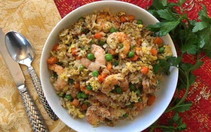 Air Fryer Shrimp Fried Rice