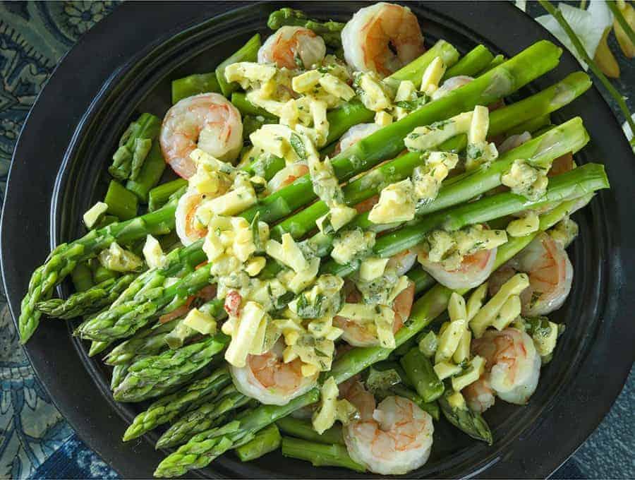 Shrimp and Asparagus Gribiche Wide