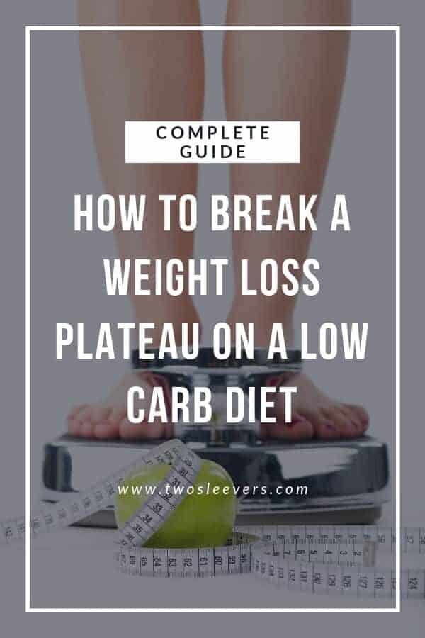 How To Break A Weight loss Plateau On A Low Carb Diet Pinterest Image