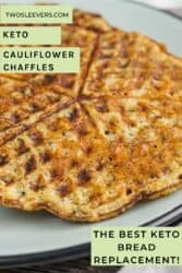 cauliflower chaffles