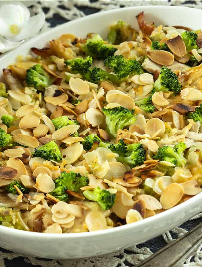 Chicken Broccoli Casserole Side Shot