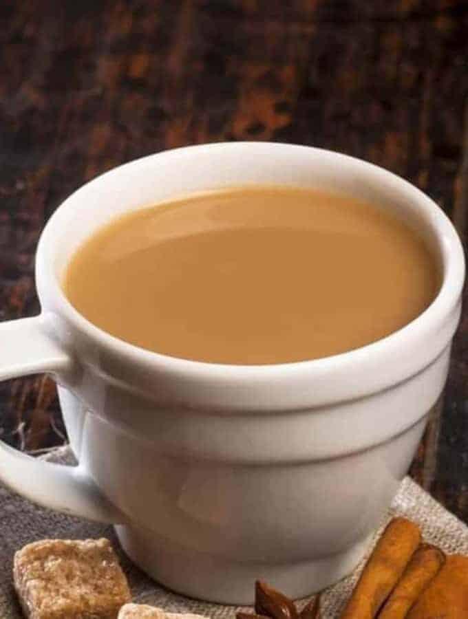 A mug of Instant Pot of Masala Chai.