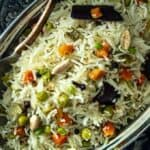 Indian Pilau Overhead Shot
