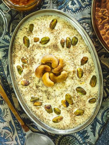 overhead shot of quinoa kheer